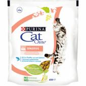 Cat Chow 400 г SENSITIVE для взрослых кошек с чувствительным пищеварением с лососем
