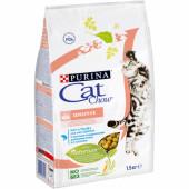 Cat Chow  1,5 кг SENSETIVE для взрослых кошек с чувствительным пищеварением с лососем