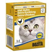 Bozita для кошек 370г кусочки курицы в желе