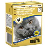 Bozita для кошек 370г кусочки куриной печени в желе
