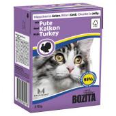 Bozita для кошек 370г кусочки индейки в желе
