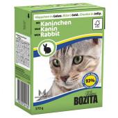 Bozita для кошек 370г кусочки кролика в желе