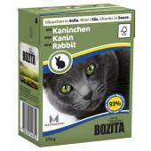 Bozita для кошек 370г кусочки кролика в соусе