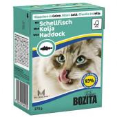Bozita для кошек 370г кусочки морской рыбы в желе