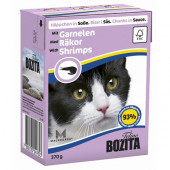 Bozita для кошек 370г кусочки креветок в соусе
