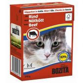 Bozita для кошек 370г кусочки говядины в соусе