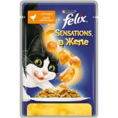 Влажный корм Felix Sensations для кошек с курицей в желе с морковью , 85 г
