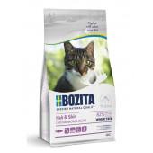 Bozita для кошек 400 г Sensitive Hair & Skin для здоровой кожи и шерсти с курицей и лососем