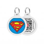 Адресник COLLAR QR-код Супермен Арт 0625-1009