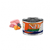 N&D для собак 140г щенки мини ягненок черника тыква