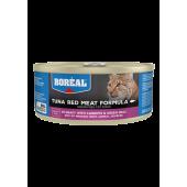 BOREAL для кошек 80 г красное мясо тунца в соусе с морсковью и зеленым горошком 007017