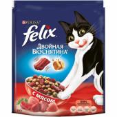 Felix 300 г Двойная вкуснятина сухой корм для кошек с мясом