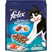 Felix 300 г Двойная вкуснятина сухой корм для кошек с рыбой