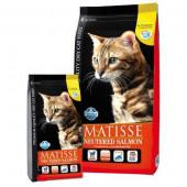 Matisse 1,5 кг Neutered Salmon для стерилизованных кошек и кастрированных котов с лососем