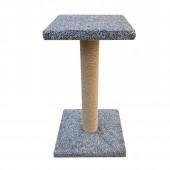 Когтеточка столбик на подставке с полкой 51см