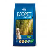 ECOPET Medium adult FISH  12 кг для собак средних пород, с рыбой
