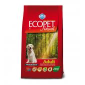 ECOPET Medium adult 12 кг для собак средних пород, с курицей