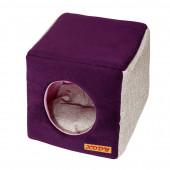 Лежак XODY Куб №3 флок VIOLET
