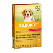 АДВОКАТ для собак весом от 10 до 25 кг 1 пипетка