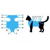 Попона №2 для кошек послеоперационная, фланелевая VitaVet