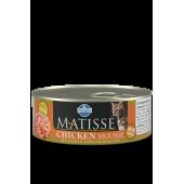 Matisse 85 гр ж/б Mousse Chicken для взрослых кошек мусс с курицей